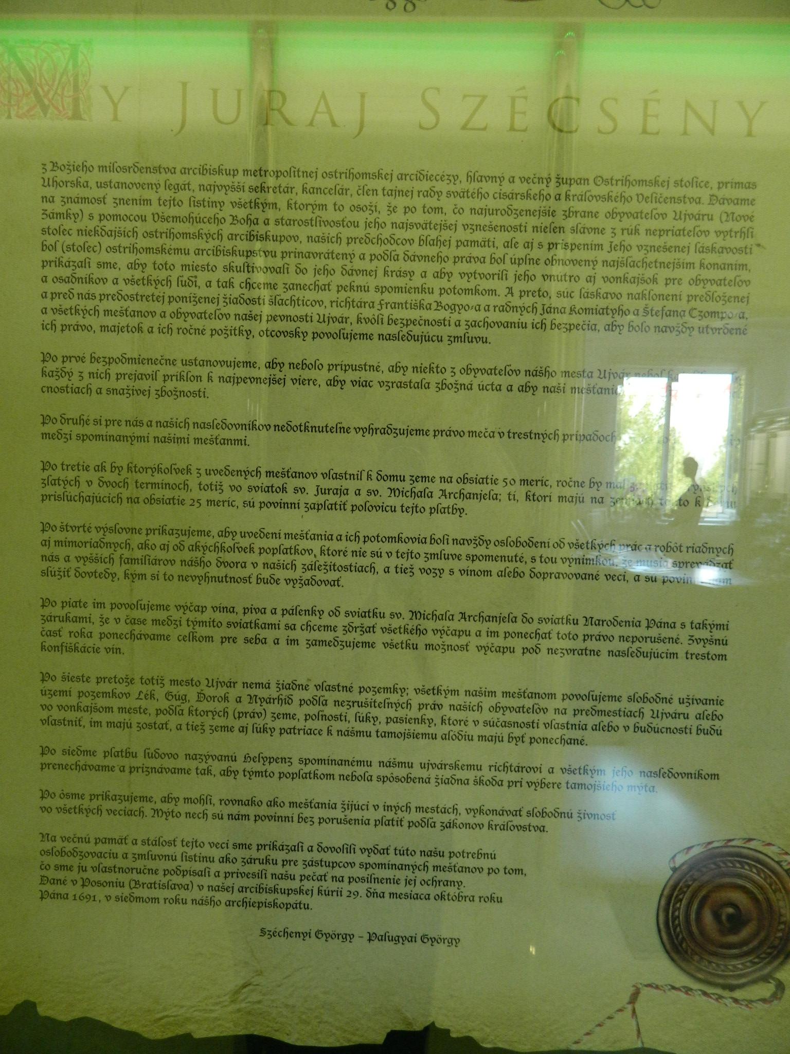 e053316609eac Juraj Széchenyi ostrihomský arcibiskup 4 - obrázok v originálnom formáte  [JPG, 707 kB]; Arcibiskup Széchenyi povýšil Nové Zámky z hradu na mesto ...
